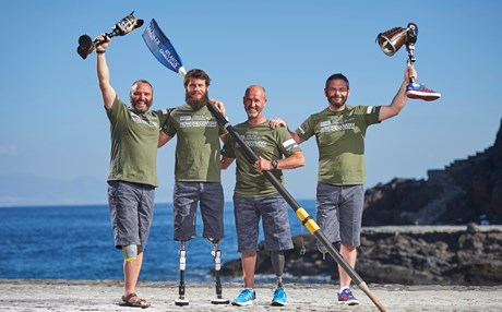 World's first all-amputee crew successfully row the Atlantic Ocean