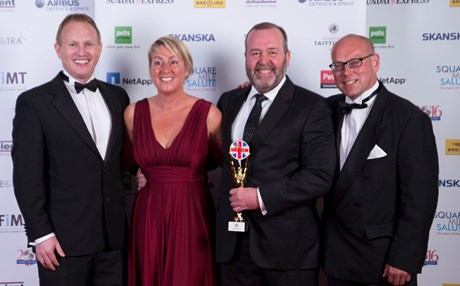 Blesma Channel Swimmers win People's Choice Award at Soldiering On Awards
