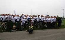 Military veterans and injured service personnel join forces for 100-mile charity cycle