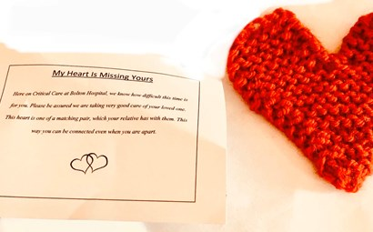 Woollen Hearts for ICU